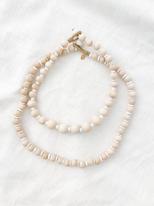 AGUA SANTA | Wood Beaded Necklace