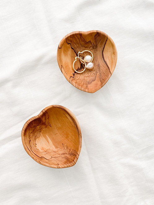 Harkiss Designs | Olivewood Heart Catch-all