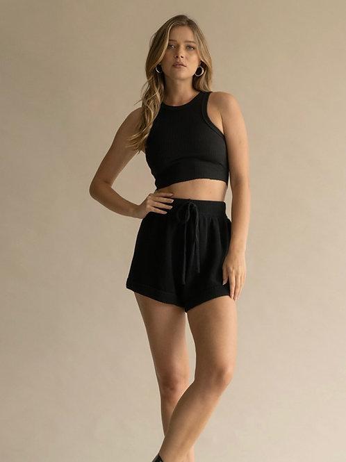 The Kamryn Knit Short | Black