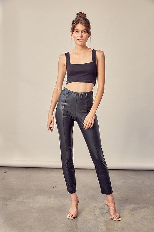 The Thais Faux Leather Legging Pant