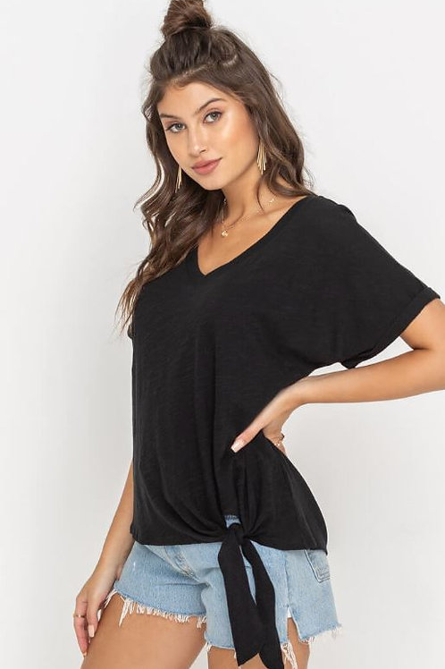 The Cary Tied Up T | Black