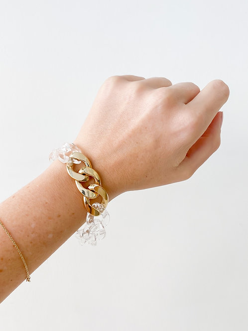 Agua Santa | Clear Acrylic Link Bracelet