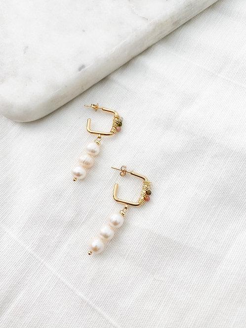 AGUA SANTA   Pearl Drop Earrings