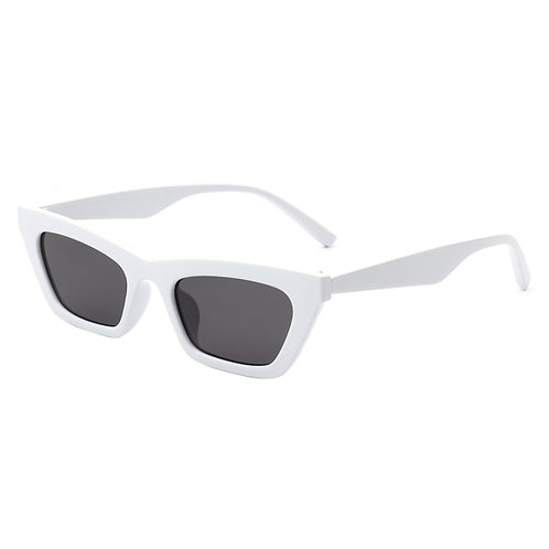 Cramilo Eyewear   White Slim Vintage Cat Eye Sunglasses