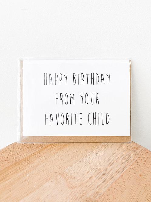 Crimson & Clover Studio   Favorite Child Happy Birthday