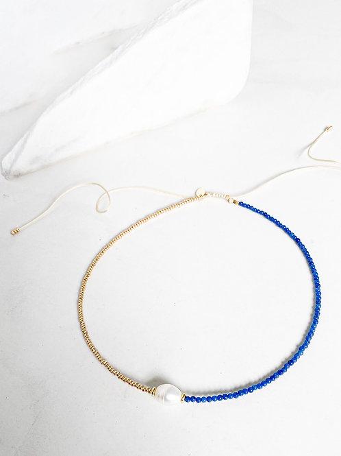 Agua Santa | Lapis Lazuli + Evil Eye Necklace