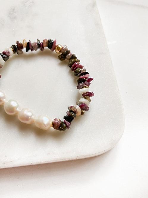 AGUA SANTA | Pearl + Tourmaline Bracelet