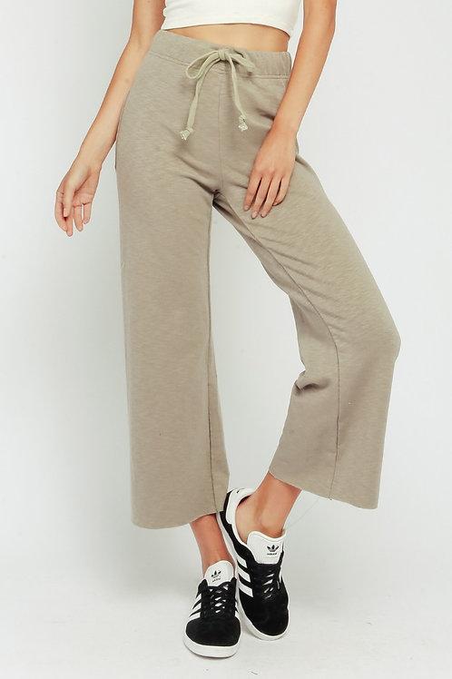The Jayden Wide Leg Sweatpant | Oatmeal