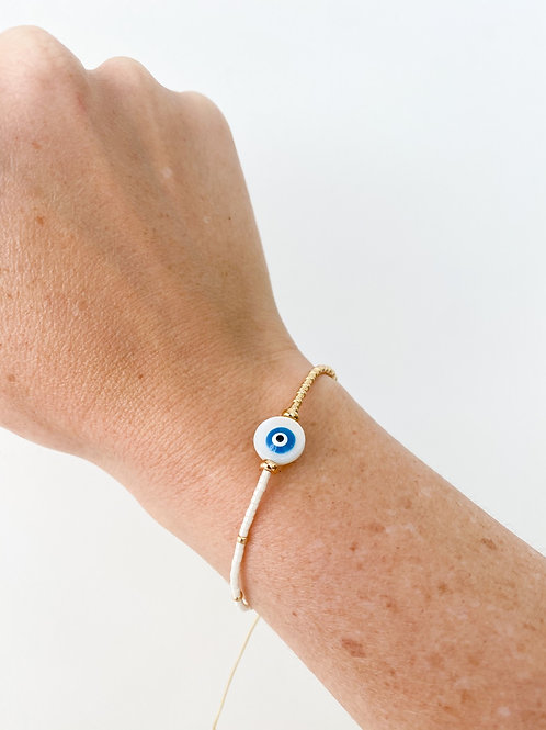 Agua Santa | Round Evil Eye Beaded Bracelet
