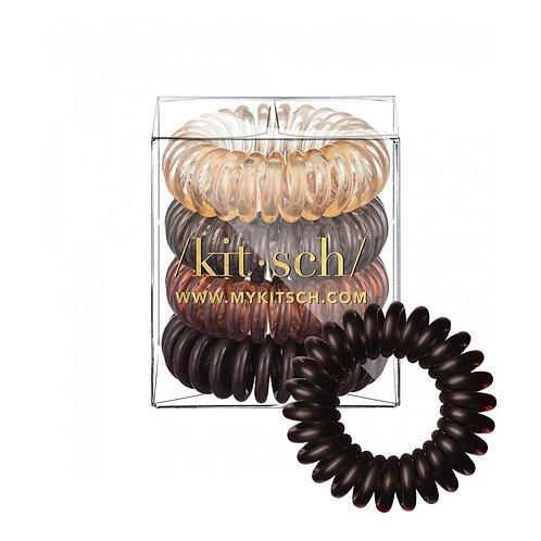 KITSCH | Brunette Hair Coils - 4 pack