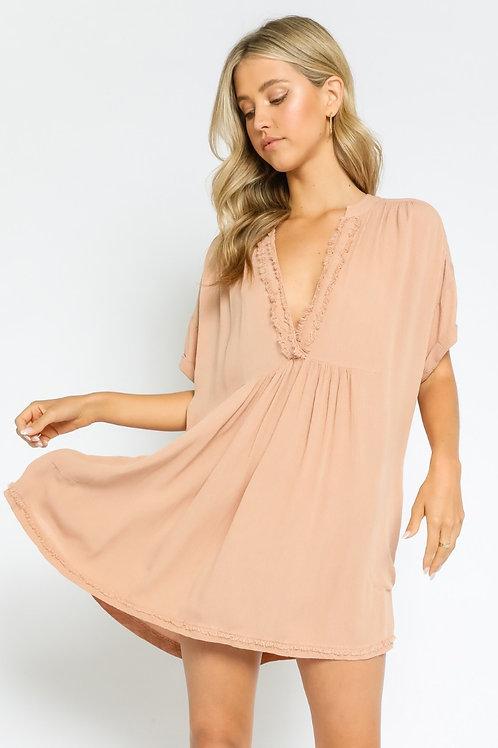 Take Me To Tahiti Mini Dress | Sand