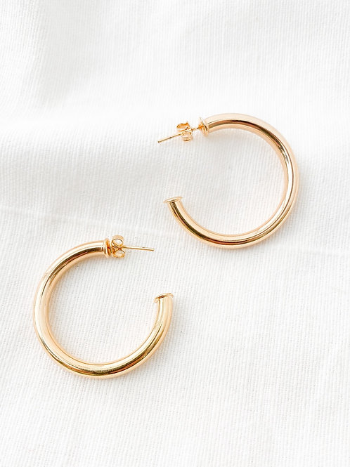 Elan Jewels | Gold Hoops