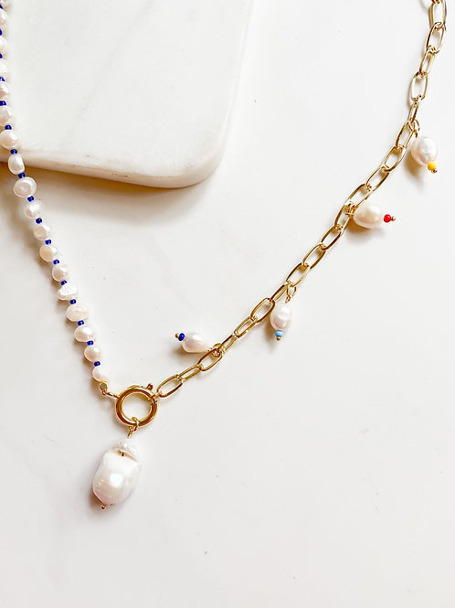 AGUA SANTA | Multi Pearl Drop Necklace