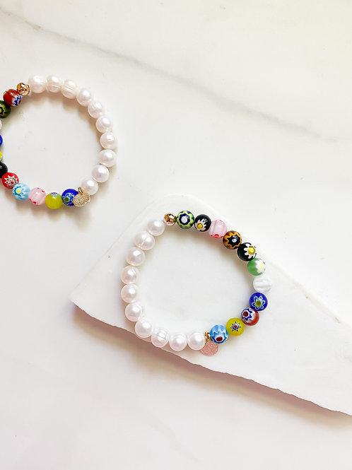 AGUA SANTA | Pearl + Bead Bracelet