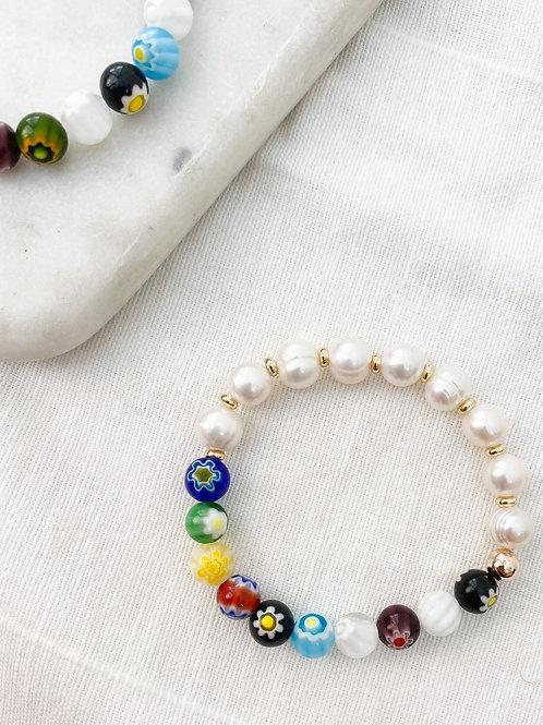 AGUA SANTA | Bead + Pearl Bracelet