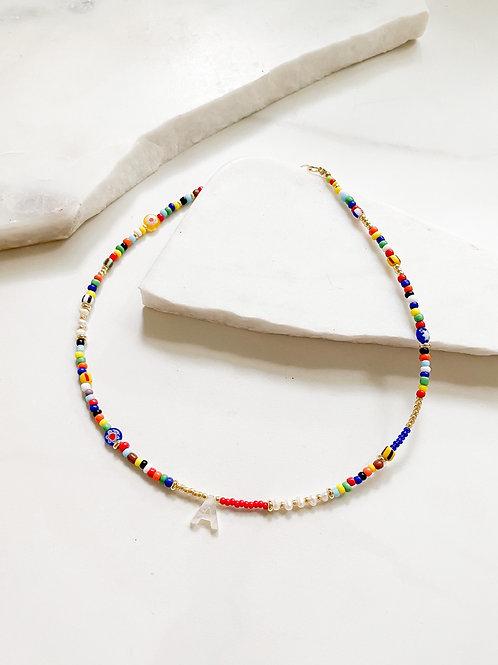 Agua Santa | Multi Bead Initial Necklace