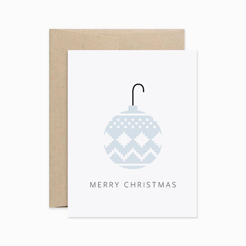 Evermore Paper Co. | Blue Ornament Christmas