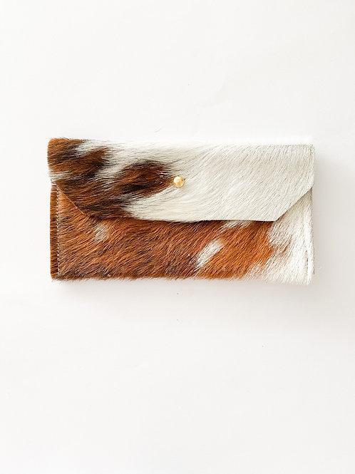 Fur Wallet | Medium Brown + White