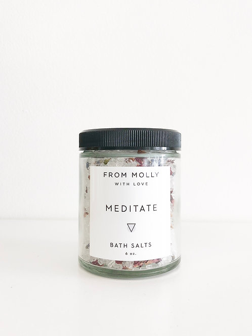 From Molly with Love | Meditate Bath Salts