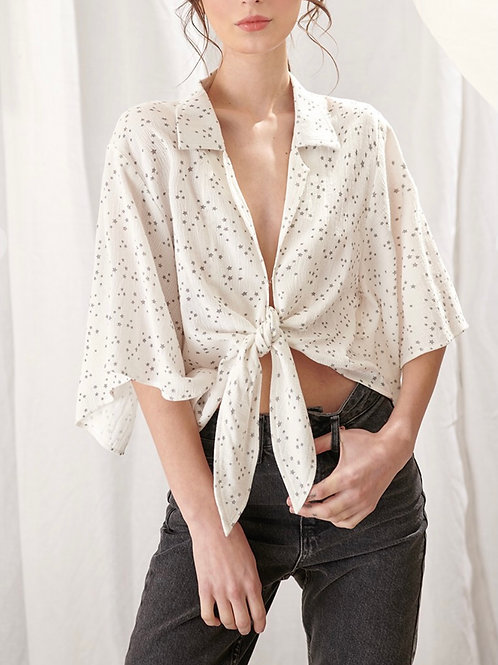 The Starlet Tie Front Blouse