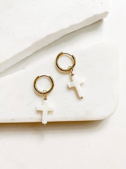 AGUA SANTA | cross earrings