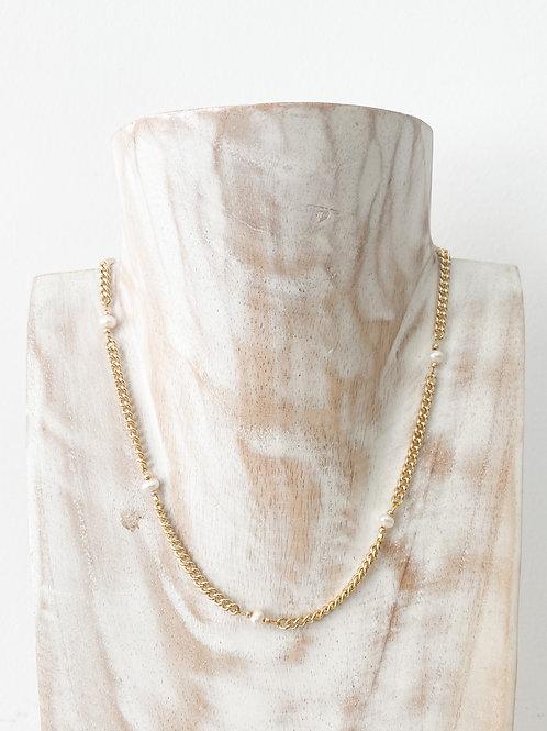 AGUA SANTA | Baby Pearl + Chain Choker Necklace
