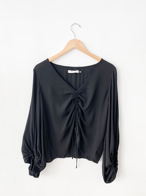 The Jessie Drawstring Top | Black