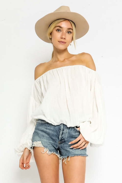 The Ayana Off The Shoulder Top | White