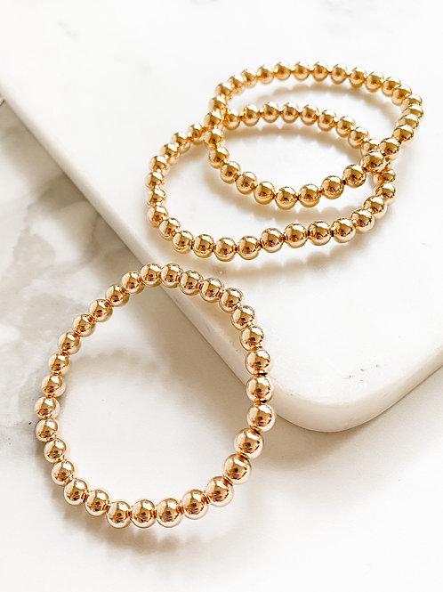AGUA SANTA    Gold Bead Bracelet