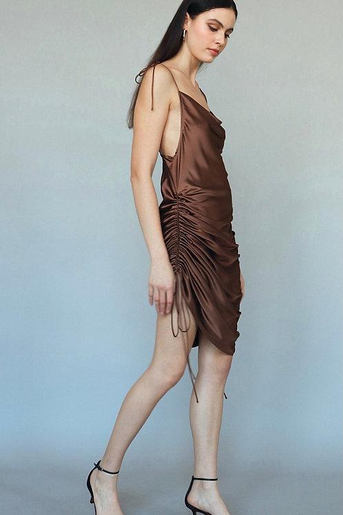 The Three Way Silky Dress | Chocolate