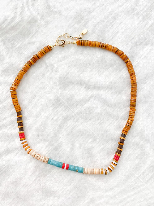 AGUA SANTA | Multi Color Tribal Pukka Shell Necklace
