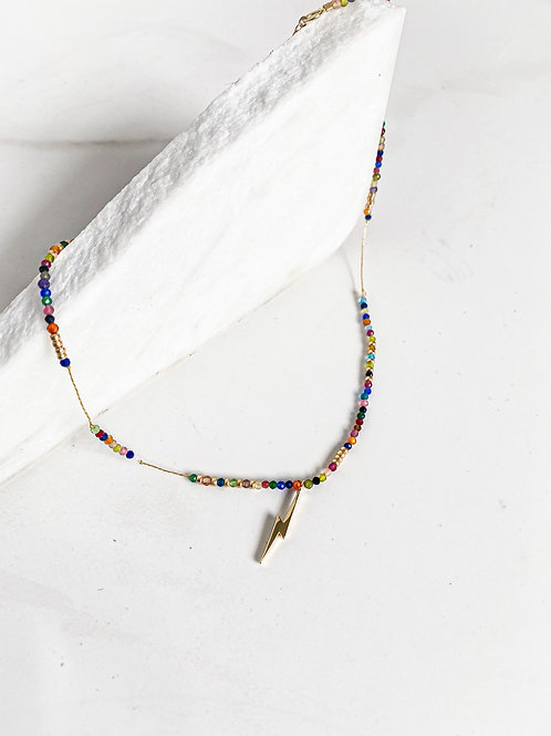 Agua Santa   Rainbow Beads + Lighting Necklace