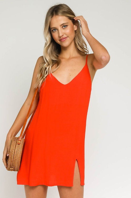 The Ciara Slip Dress   Orange