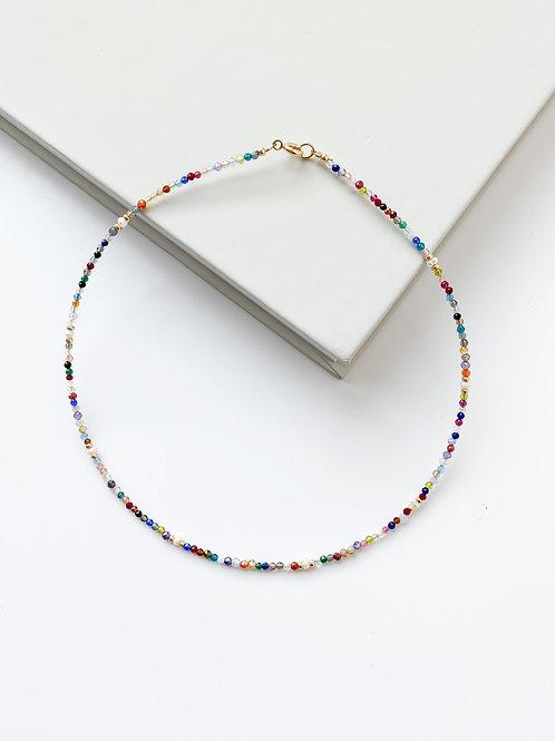 AGUA SANTA | Tourmaline + Beads Necklace