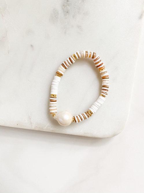 AGUA SANTA |  Shell + Pearl Bracelet