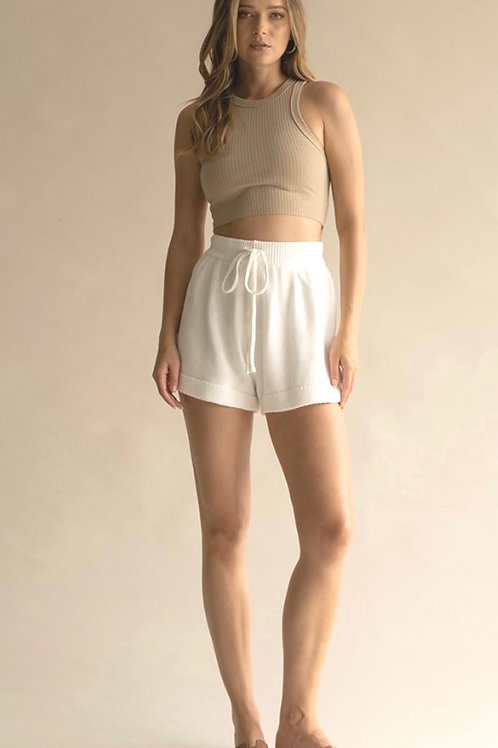 The Kamryn Knit Short | Ivory