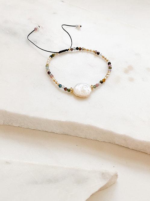 AGUA SANTA | Tourmaline Beads and Pearl