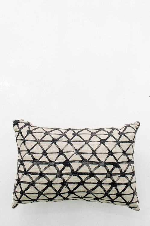 Linen Geo Pattern Pillow