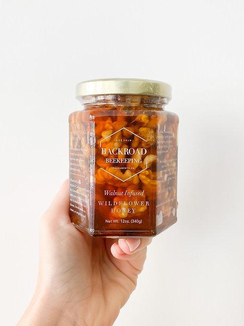 Backroad Beekeeping   Walnut Infused Wildflower Honey