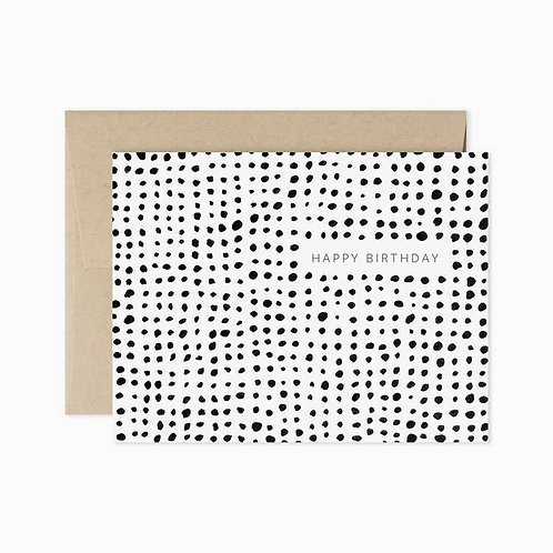 Evermore Paper Co. | Happy Birthday Black & White