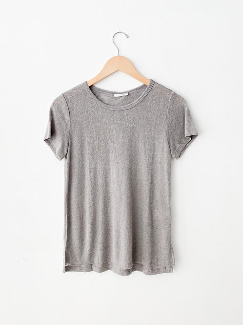 Melrose Crew Neck T | Grey