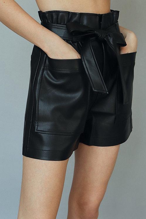 The Mason Vegan Leather Short