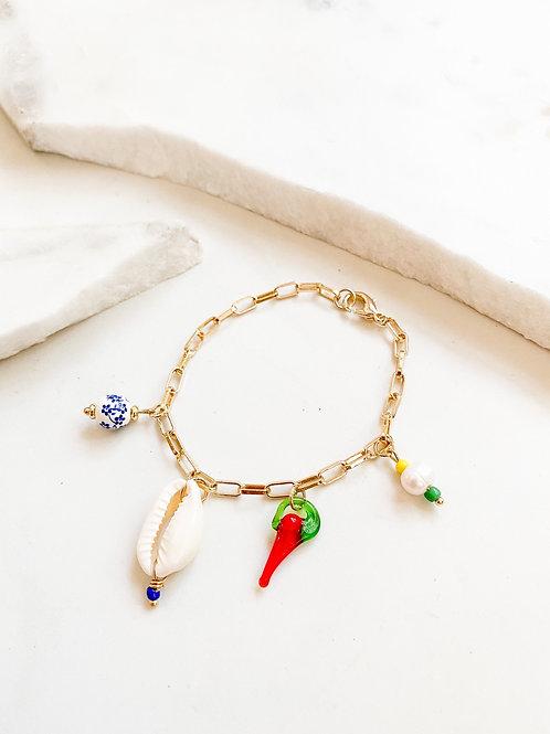 AGUA SANTA | Charm + Chain Bracelet