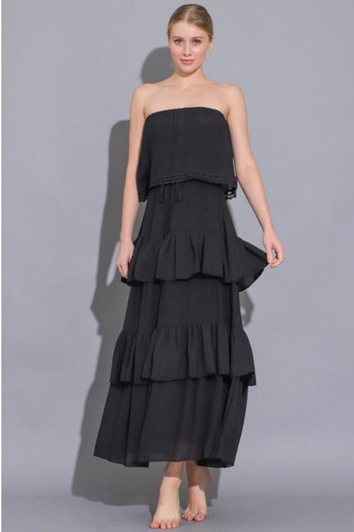 The Sevilla Ruffle Midi Dress