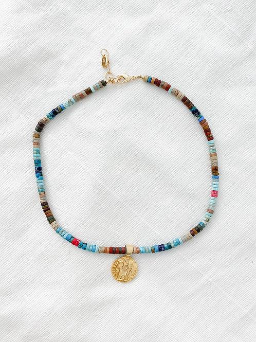 AGUA SANTA | Gold Coin & Pukka Shell Necklace