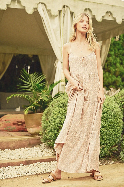 The Dainty Floral Tiered Maxi