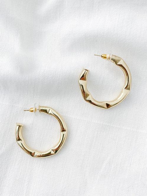 Elan Jewels | Bamboo Gold Hoops