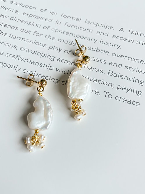 AGUA SANTA | Raw Pearl Earrings