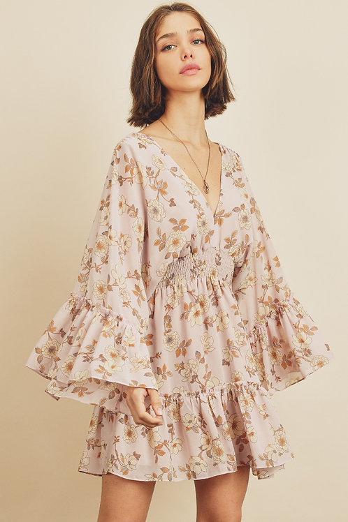 The Floral Butterfly  Mini Dress