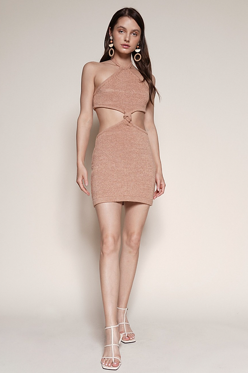 The Bianca Cut Out Dress | Brown